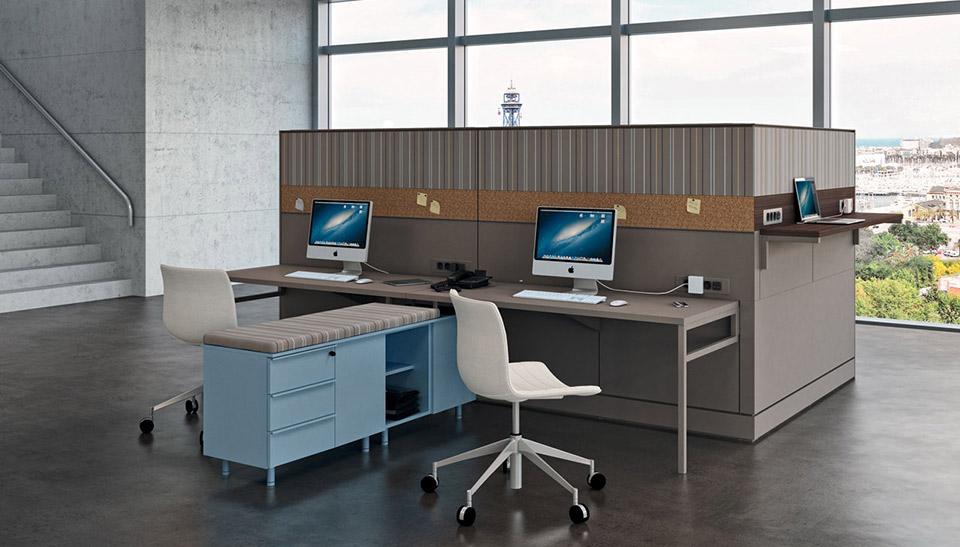 Mobiliario de oficina de segunda mano top mesa oval para for Muebles de oficina usados