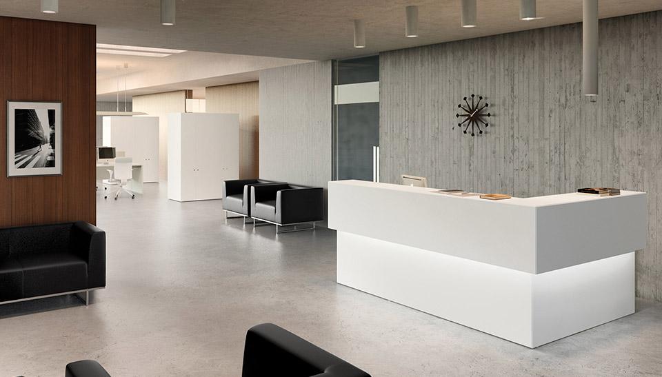 Adeyakabcn for Recepcion oficina moderna