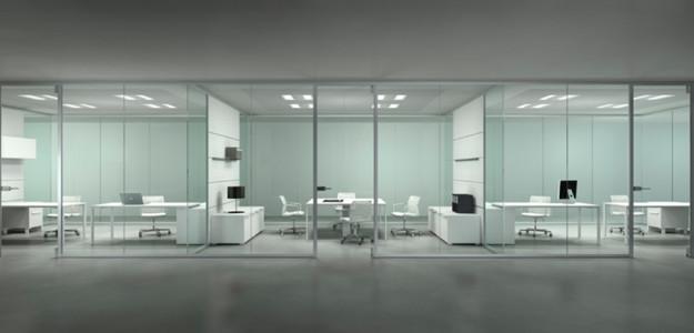 Kristal evo la nova mampara d 39 oficina de frezza adeyaka bcn for Mamparas de oficina