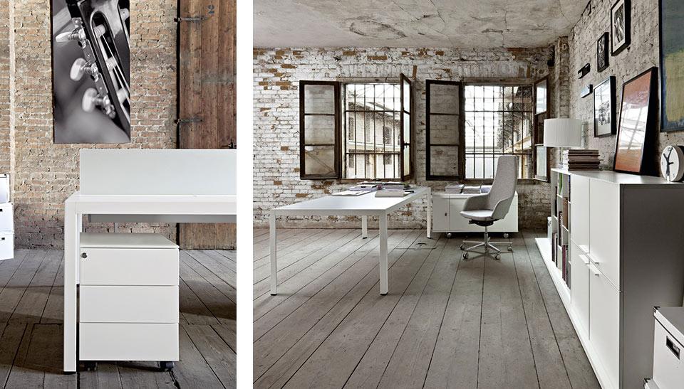 Mobiliario de oficina sinetica en barcelona mesas frame 6 for 8 6 mobiliario de oficina
