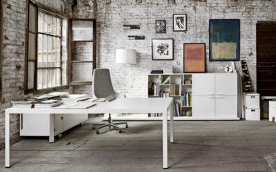 Sistema de mesas de oficina Frame + de Sinetica