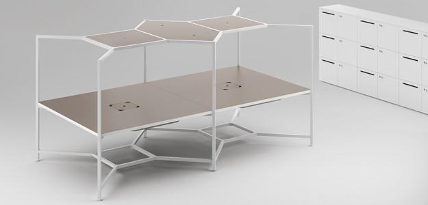 Muebles de oficina hub de fantoni trabajar conectado for Muebles de oficina barcelona