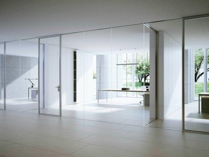 Mamparas de oficina y paneles ac sticos adeyaka bcn for Mamparas de vidrio para oficinas