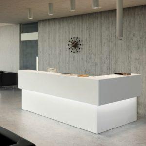 Mostradores de recepción de oficinas Fantoni Adeyaka Barcelona