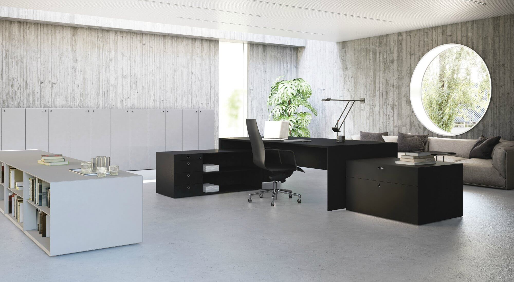Muebles de oficina alta direccion quaranta5 fantoni for 5 muebles de oficina