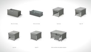 Tipos de cajones muebles oficina usm