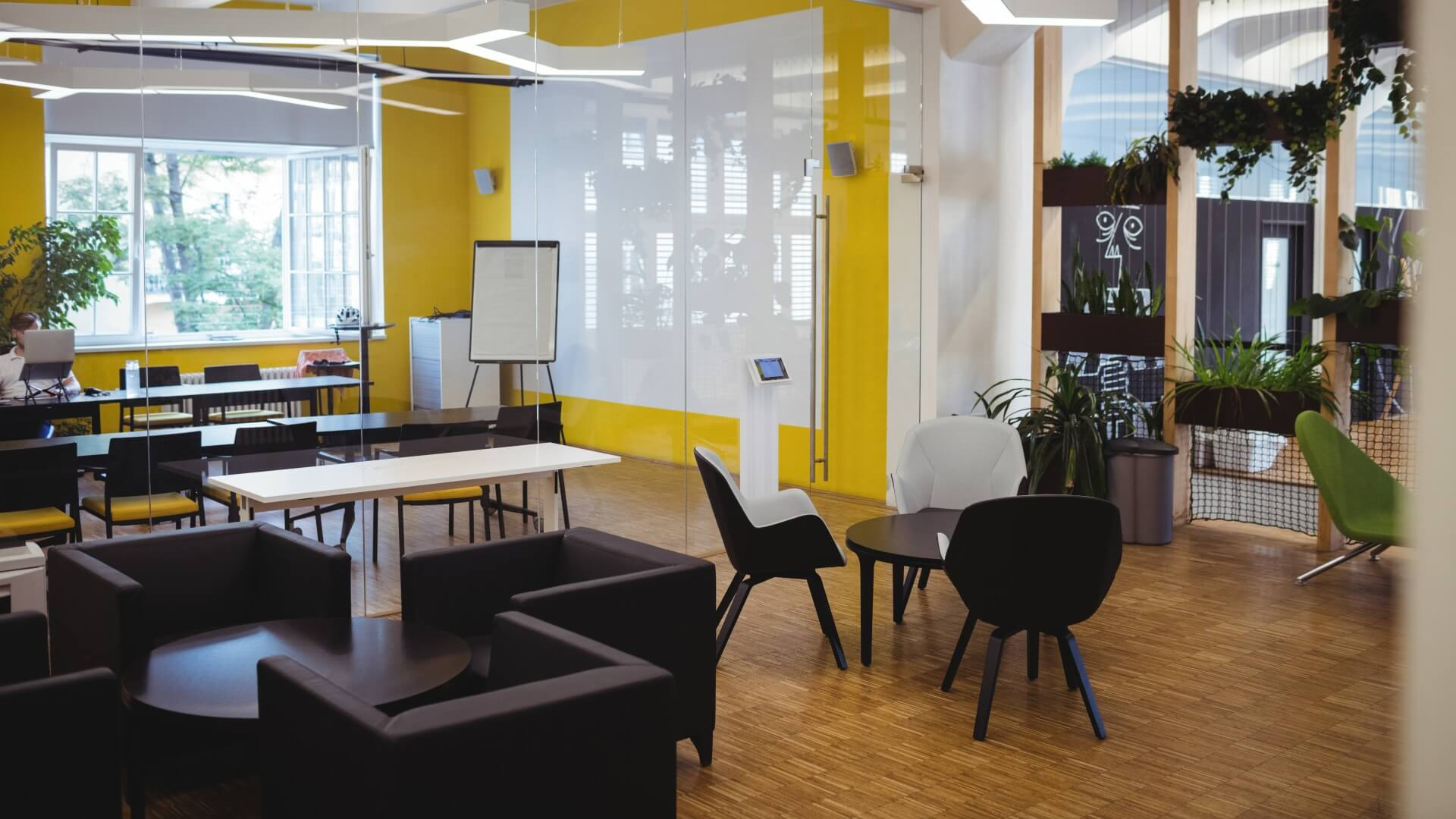 orígenes del living office