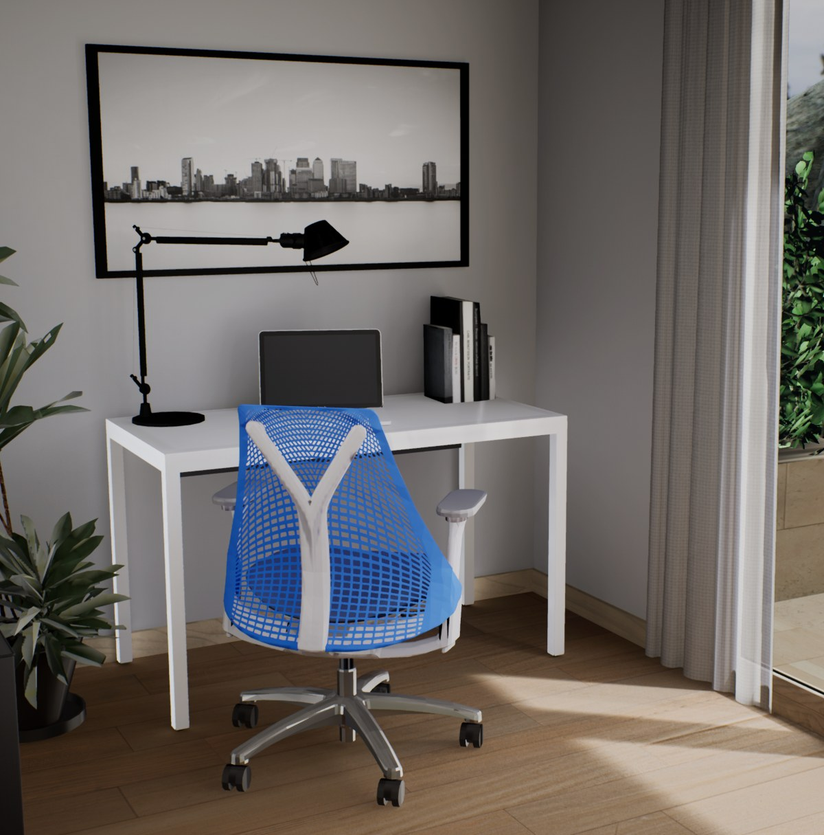 home office - pack blue